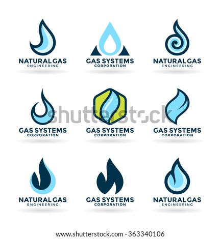 Natural gas (3) - stock vector