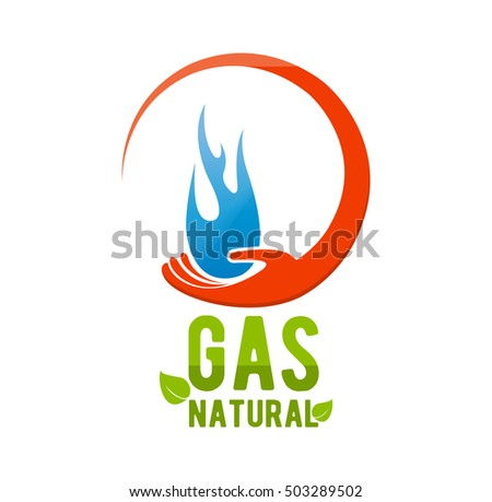 Natural Gas Company Logo Blue Fire Stock Vector Hd Royalty Free