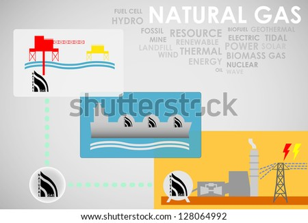 natural gas energy - stock vector