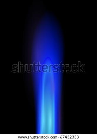 Natural gas flame, editable vector illustration. - stock vector