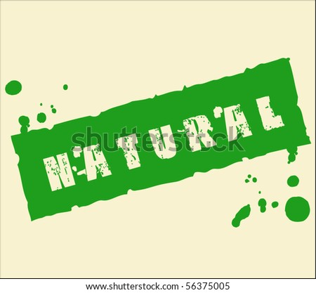 Natural grungy ink rubber stamp - stock vector