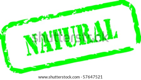 Natural grungy rubber stamp - stock vector