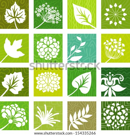 Natural icons - stock vector