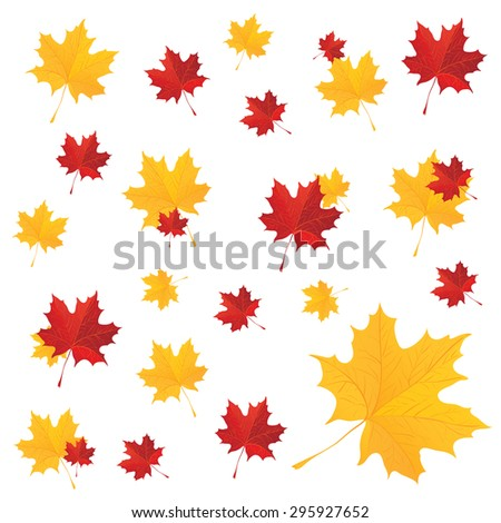 Natural maple leaves background poster print vector illustration