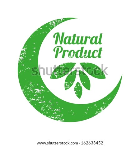 natural product design over white  background vector illustration
