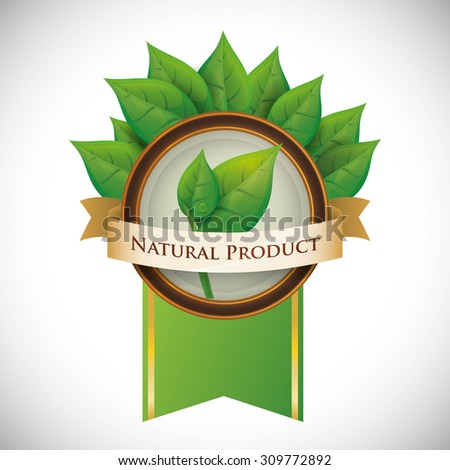 Natural product digital design, vector illustration 10 eps graphic