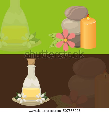 natural spa center icons vector illustration design