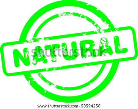 Natural stamp - stock vector