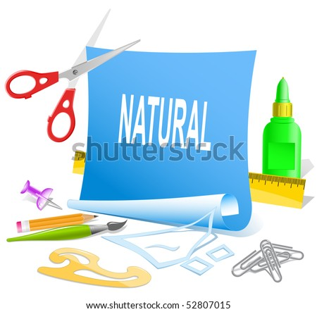 Natural. Vector paper template.