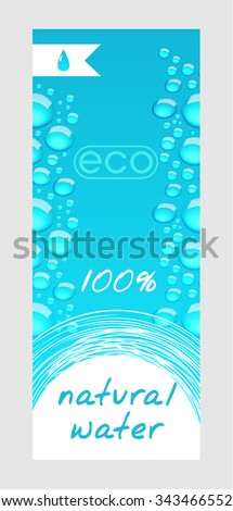 Natural water banner - stock vector