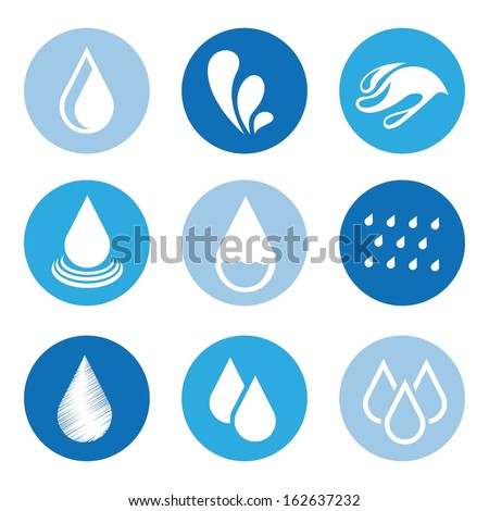 natural water over white background vector illustration - stock vector