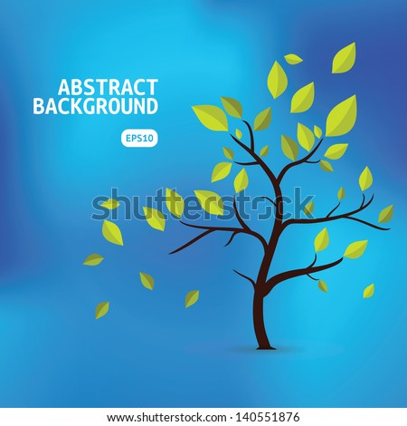 Nature Abstract Background. Vector Design Backdrop.  - stock vector