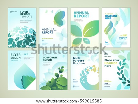 Nature Healthcare Brochure Cover Design Flyer Stock Vector