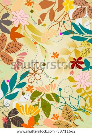 nature background 5 - stock vector