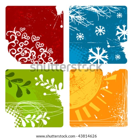 nature backgrounds - stock vector
