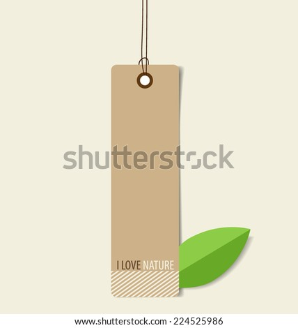 Nature banner, Eco organic labels and tags. Vector illustration. - stock vector