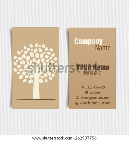 Nature banner, Modern business card template, Eco organic labels and cards. Vector illustration. - stock vector