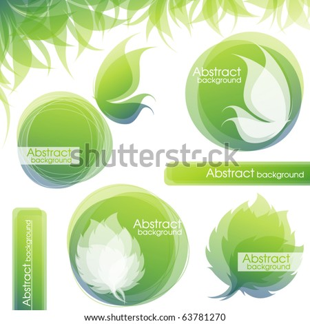 Nature. Elements for design. Vector illustration. - stock vector