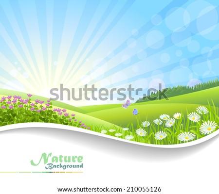 Nature Fantasy: Sunshine  - stock vector