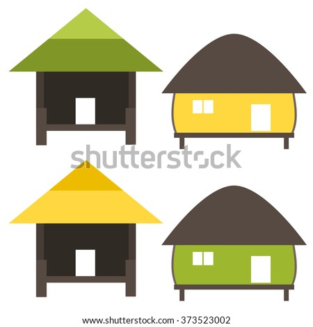 Nature home symbol in ecology world concept illustration - stock vector
