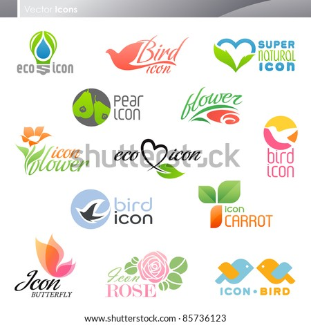 Nature. Icon set. - stock vector