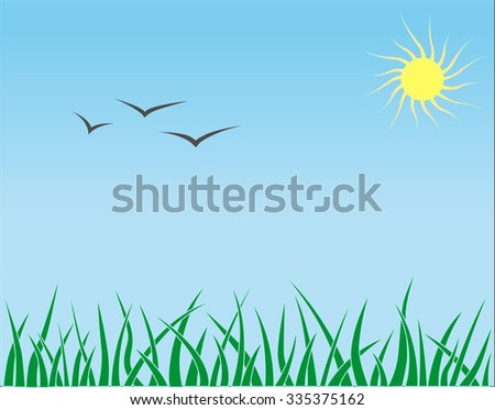 Nature lanscape - stock vector