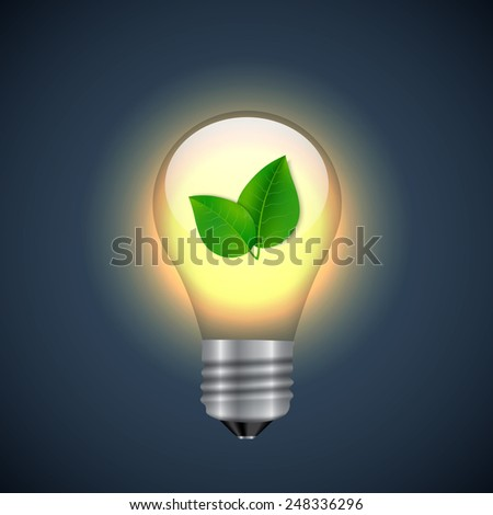 Nature lightbulb icon. EPS10 vector