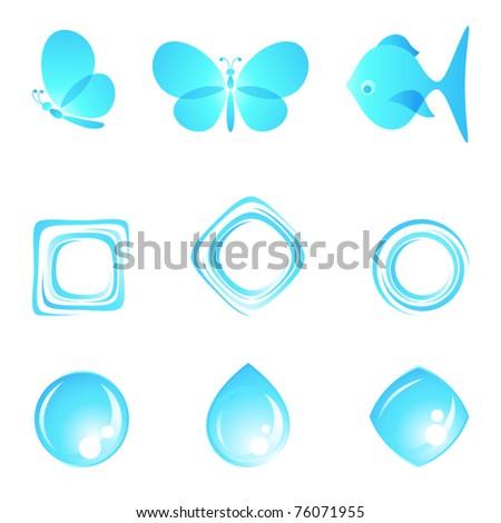 Nature logos. Vector illustration. - stock vector