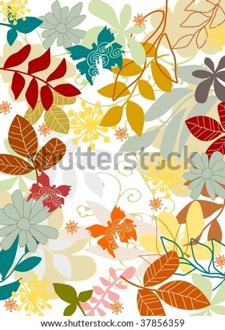 nature pattern 7 - stock vector