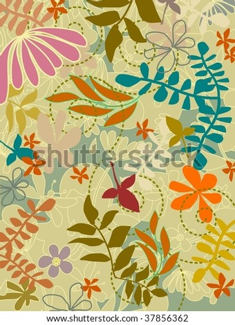 nature pattern 6 - stock vector