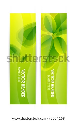 Nature summer banners - stock vector