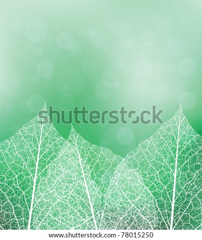 Nature theme vector background. eps10 - stock vector