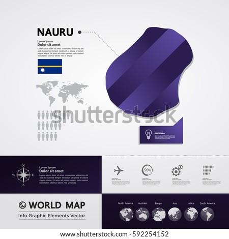 Nauru Map Stock Images RoyaltyFree Images Vectors Shutterstock - Nauru map vector