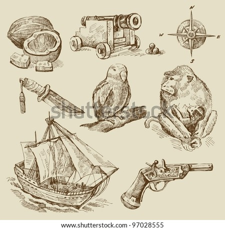 nautical collection - stock vector