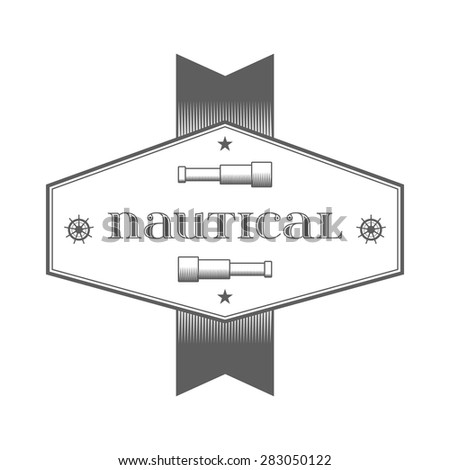 nautical label. vintage logo, icon and design element. - stock vector