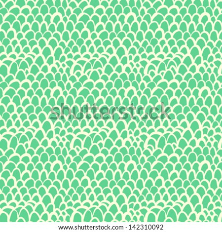Nautical pattern inspired by tropical fish skin in aqua blue color. Texture for web, print, wallpaper, home decor, spring summer fashion fabric, textile, invitation or website background. Marine set. - stock vector