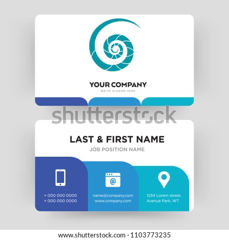 Nautilus shell business card design template stock vector 1103773235 nautilus shell business card design template visiting for your company modern creative and colourmoves