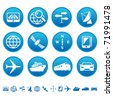 Navigation and transport icons - stock photo