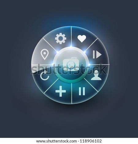 Navigation element - stock vector