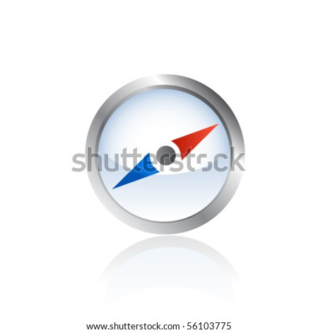 Navigation icon. Vector - stock vector