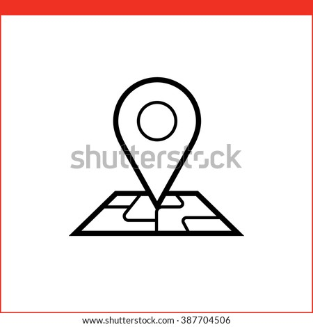 Navigation pin pointer roadmap icon - stock vector