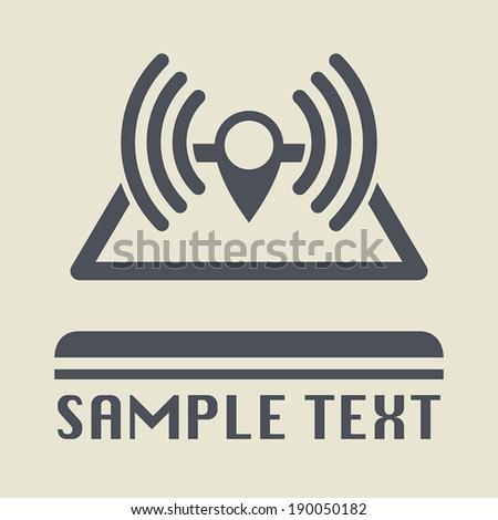 Navigation radar icon or sign, vector illustration - stock vector