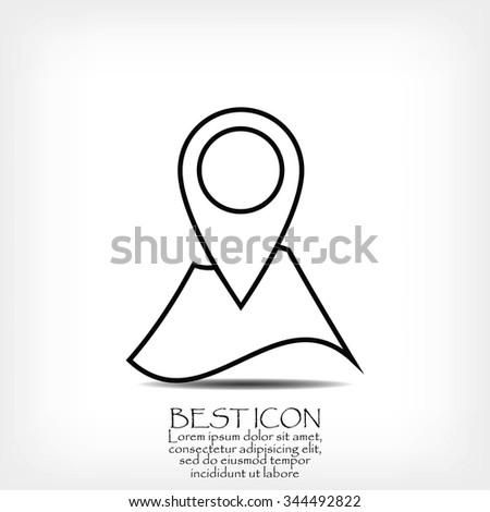 Navigator guide icon - stock vector