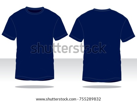 Navy Blue T Shirt For Template