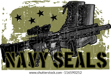 navy seal - stock vector