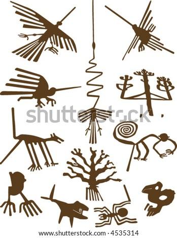 Nazca Lines - stock vector