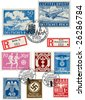 Nazi stamps - stock vector