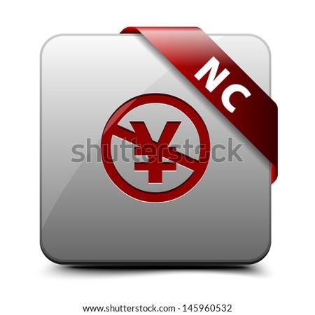 NC (JP)  button - stock vector