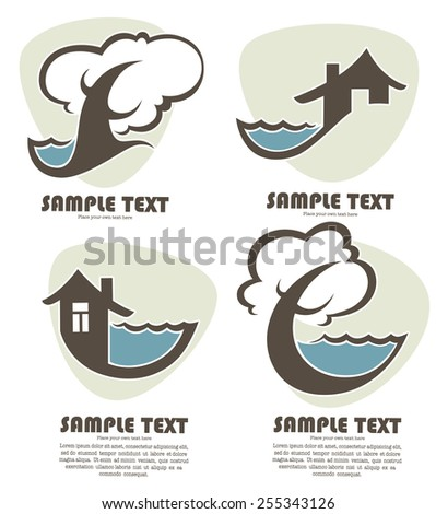 near the sea, vector image for your cards - stock vector