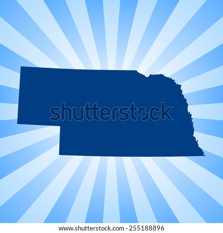 Nebraska Map - stock vector